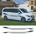 1 комплект, автомобильный Стайлинг, домашний кемпер, фургон, полосы тела, наклейки, виниловая графика, универсальный для Ford Toyota Mercedes Benz