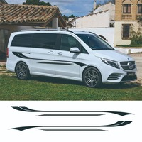 1 Set Car Styling Motorhome Camper Van Body Stripes Decals Stickers Vinyl Graphics Universal For Ford Toyota Mercedes Benz