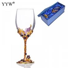 Wedding Glasses Beauty Enamel Mugs Cup Wine Glass Flower Mug Champagne Goblet Party Barware Kitchen Tools