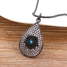 High Quality Water Drop CZ Pendant & Necklace For Woman Girl Cubic Zirconia Rose Gold/Silver/Black  Color Chain Jewelry Gift стоимость