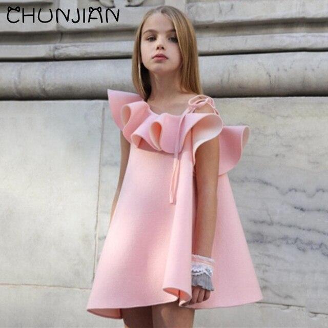 CHUNJIAN Princesa Flor Vestido de Niña de Verano 2017 de La Boda ...