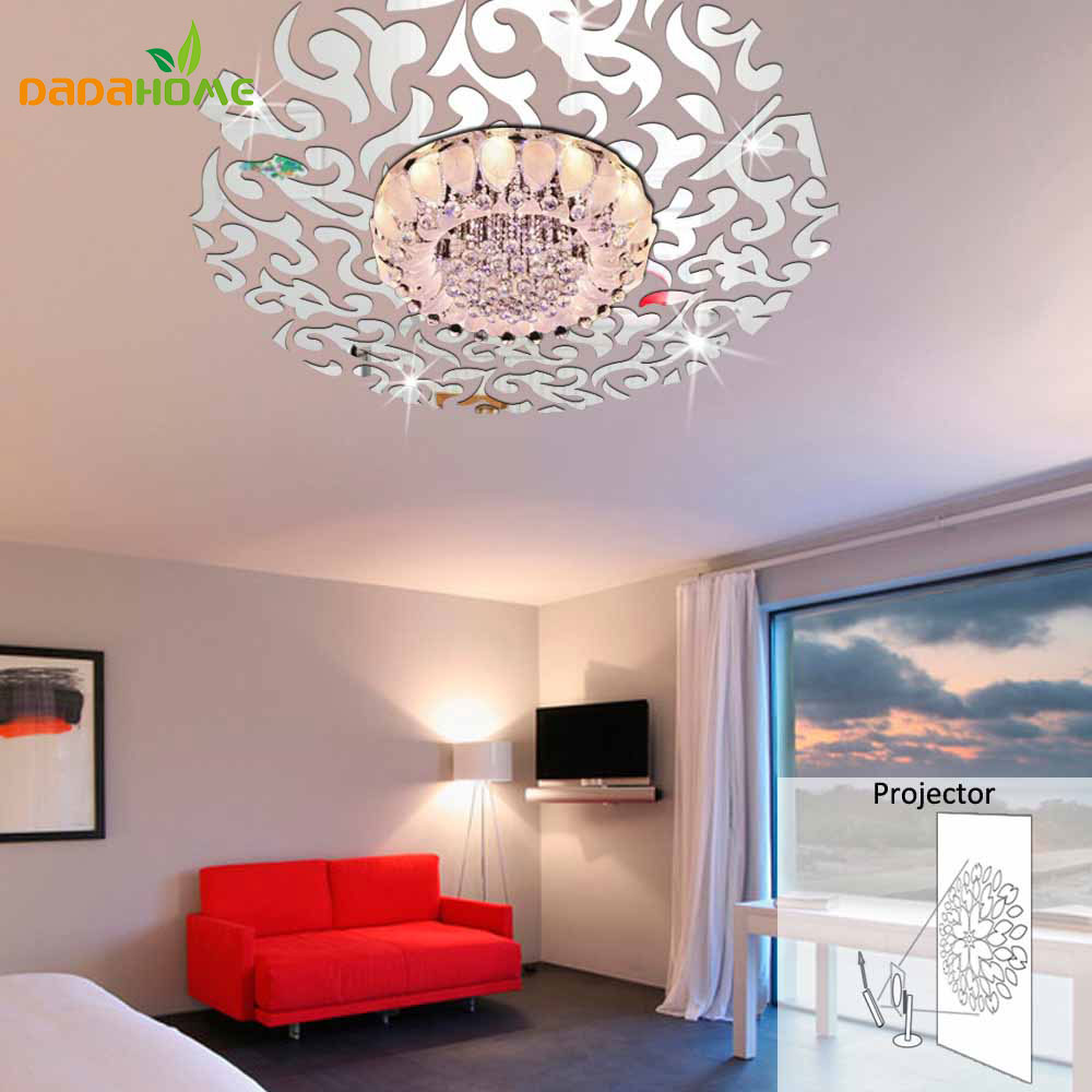 Creative 3d Home Decor Mirror Wall Stickers Living Room