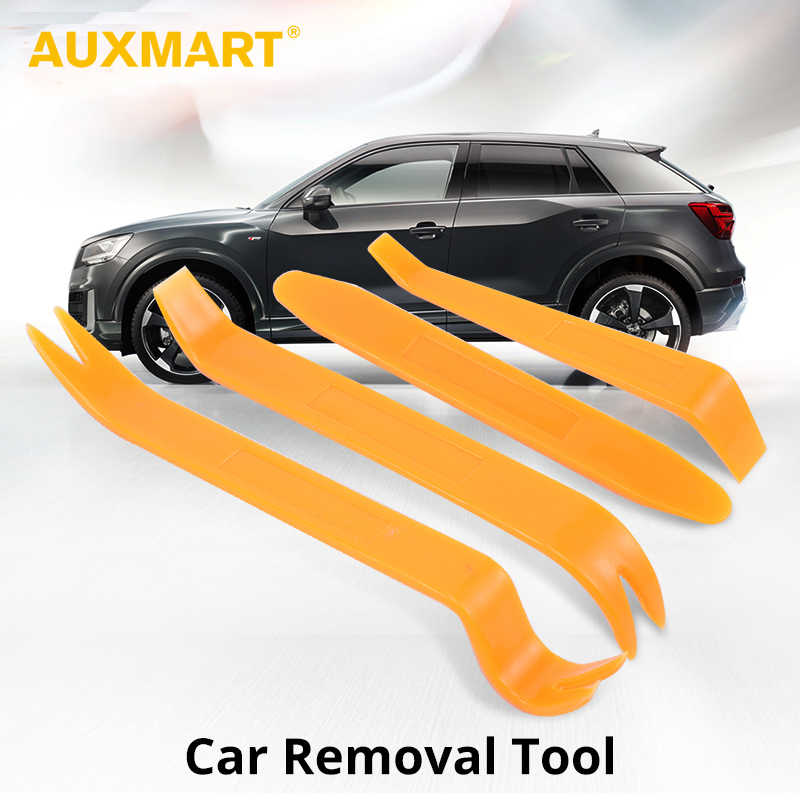 AUXMART 4Pcs Car Disassembly Tools Auto DIY Pry Repair Tool Kit Radio Panel Interior Door Clip Panel Trim Dashboard Removal Tool