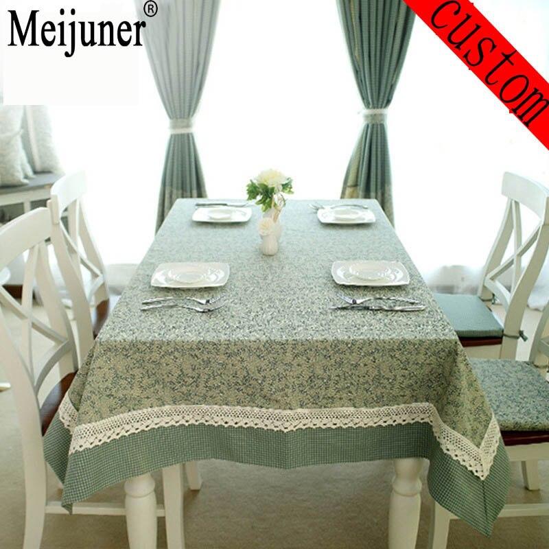 Meijuner Hot Leaves Grid Printed Christmas Table Cover