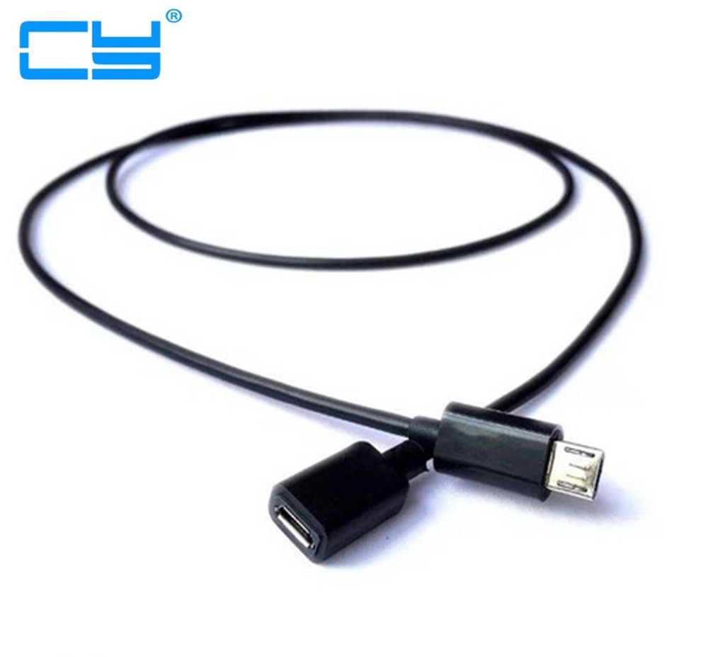 Long Plug High Quality 1m Micro USB 2.0 B 5pin Male To Female M/F Extension Charging Data Charger Lead Extender Cable 0.1m To 2m