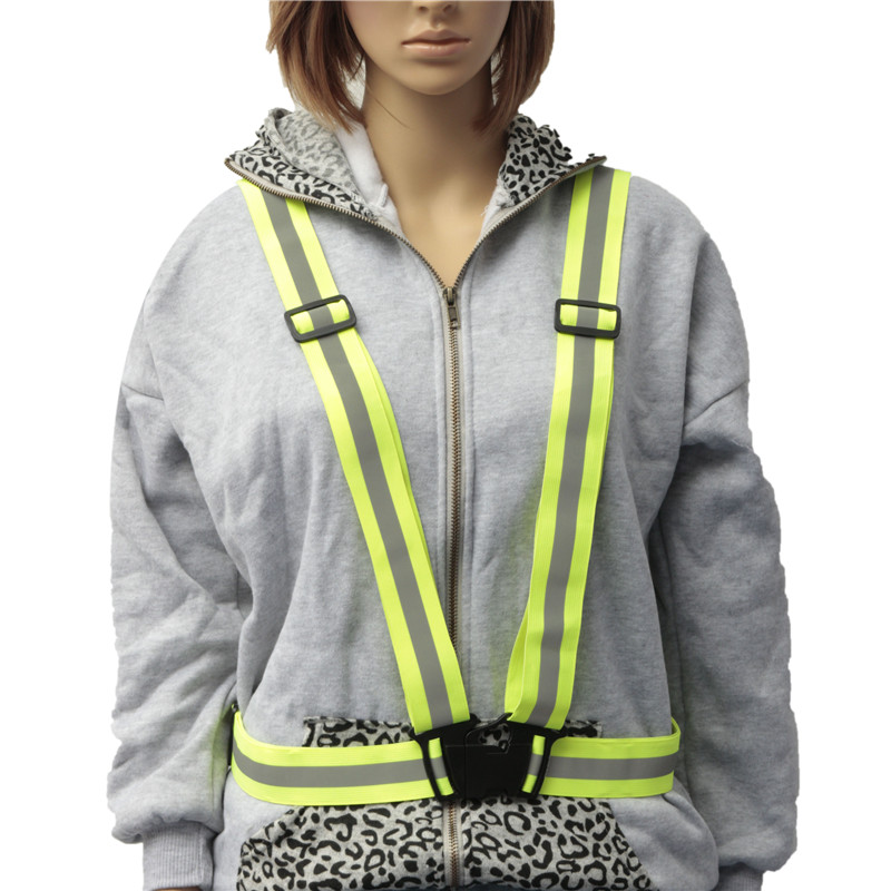 Unisex Safety High Visibility reflection vest Waistcoat Outdoor Running Cycling Vest Harness Reflective Belt Safety Jacket seven til midnight чулки большого размера телесные с кружевной резинкой