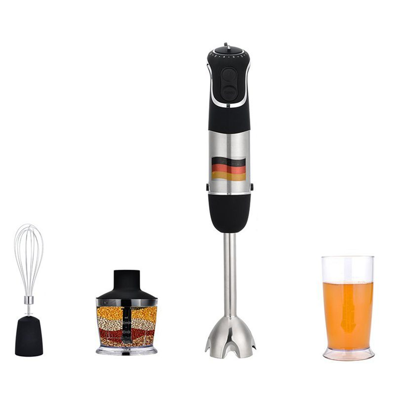 Hand blender Set MQ735 100V-120V powerful 3-in-1 Dip Blender with chopper, whisk and tumbler attachment, Food and blender rodHand blender Set MQ735 100V-120V powerful 3-in-1 Dip Blender with chopper, whisk and tumbler attachment, Food and blender rod