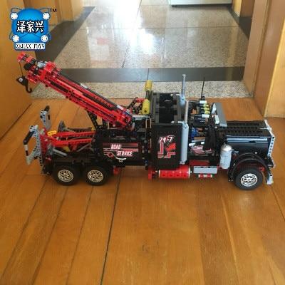 1877Pcs New LEPINS Technic Series Pneumatic Tow Truck 3D Model Building Kits Blocks Bricks Figures Toys Gift цена и фото