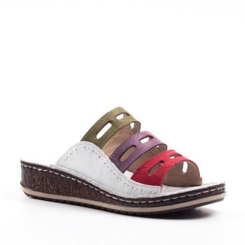 HEFLASHOR Summer  Slippers Women Beach Slip On Slides Female Rome Retro Casual Shoes Thick Bottom Wedge Open Toe Sandals 4