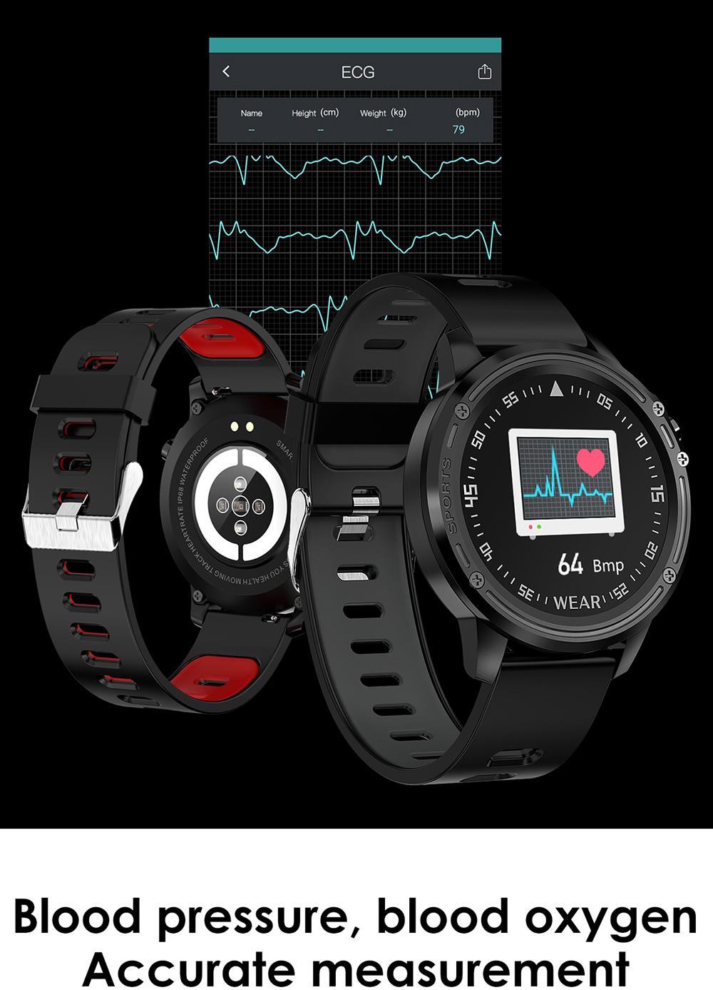 Reloj inteligente L8 IP68 para Hombre, Reloj inteligente resistente al agua con ECG presión arterial mediante PPG, relojes deportivos para fitness 13