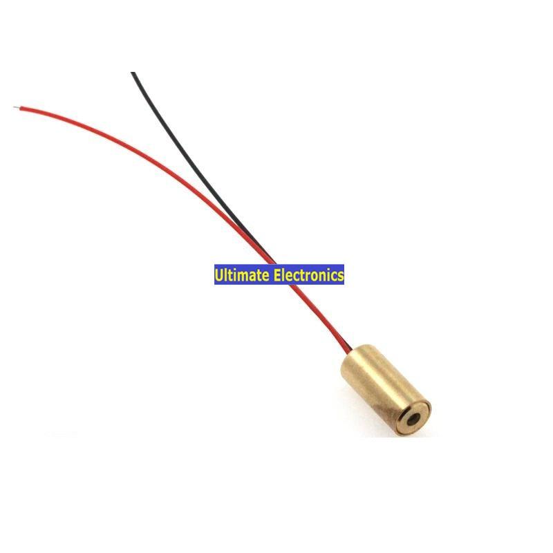 Tubo do Laser Cabeça do Laser Diodo Laser mw Ponto Vermelho Pequeno Horizontal Linha 10pcs 9mm 5 3v 30ma