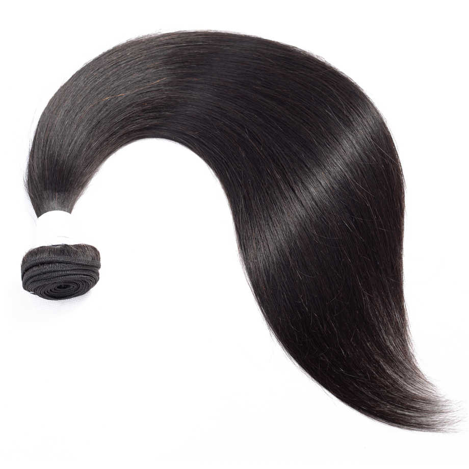 Бразильские человеческие волосы плетение пучки с закрытием натуральный цвет 100% Remy 4 шт прямые волосы пучки с закрытием