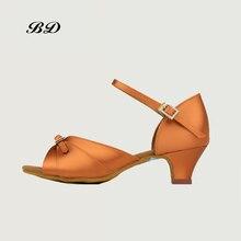 BD 610 Children DANCE SHOES Latin Shoes Ballroom GIRL Shoe Modern JAZZ Low Heel Heel