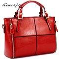 PU bolsas de couro das mulheres moda patchwork designer de marca de alta qualidade senhoras escritório sacos de ombro mensageiro doces saco livre