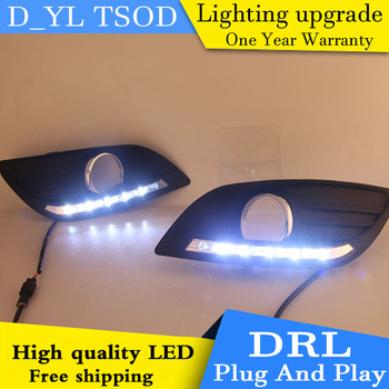 DY_L 2 Pcs ABS Daytime Running DRL For Ford Focus Fog Light Front Lamp Auto lamp Automobile Accessories