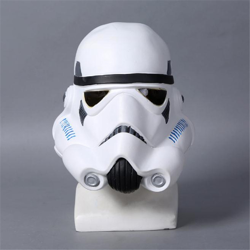Star Wars Imperial Stormtrooper White Soldier Latex Helmet Masks Cosplay Costume Prop Christmas Party Halloween Costume For Men