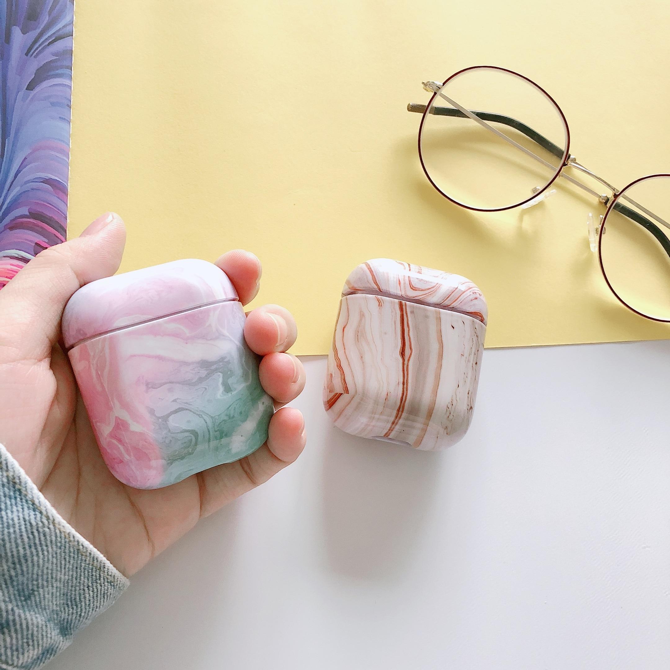 10 pièces/ensemble étui pour Airpod 1 ou Airpods 2 luxe marbre housse de protection 1:1 Bluetooth écouteur Charge boîte de protection peau