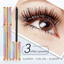 4D Makeup Eyelash Mascara Eye Lashes Silk Fiber Lash New Long Curling Black Waterproof Star 2018