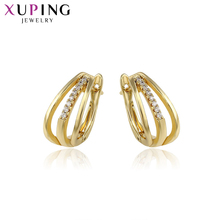 Xuping Fashion Elegant Earring Gold Color Plated With Synthetic CZ Jewelry for Women Valentines Day Gift 93026