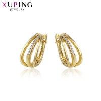 Xuping Fashion Elegante Oorbellen Licht Goud Kleur Plated Top Verkoop Sieraden voor Vrouwen Valentijnsdag Gift S106-93026