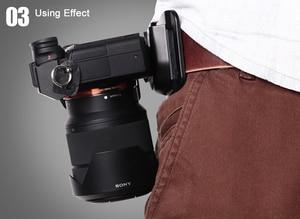 "Image 5 - 1/4 ""Quick Release แผ่นกล้อง Holster เข็มขัดเข็มขัดหัวเข็มขัดตะขอแขวนสำหรับ Canon Nikon Fuji Sony A7RII 6500 GH5 DSLR"