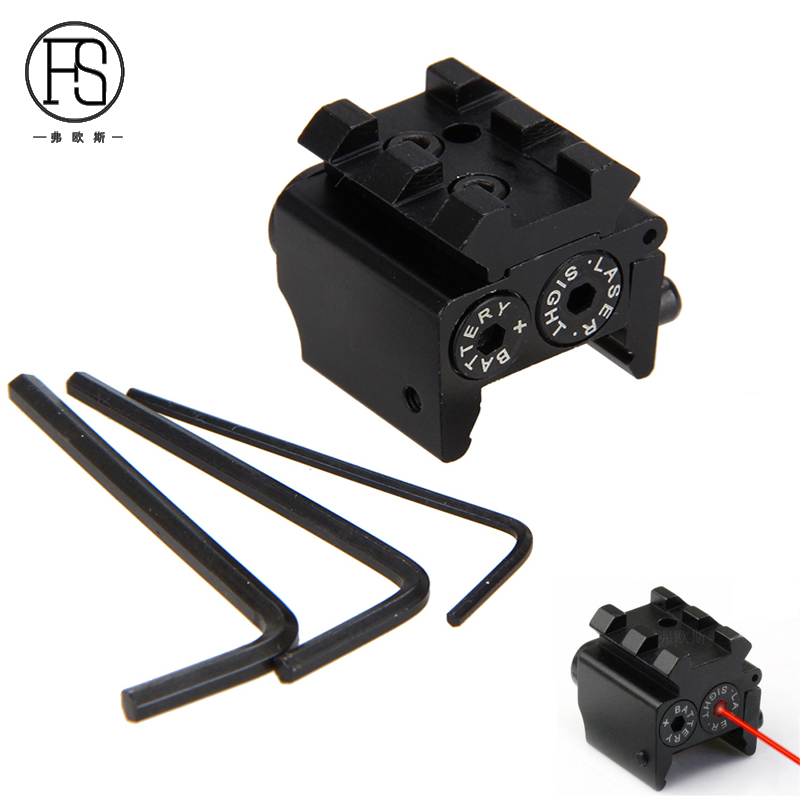 Tactical Hunting Red Laser Sight Scope For Pistol Rifle Picatinny 20mm Rail Mini Gun Red Laser Optical Equipment For Hunting