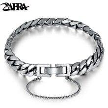 Zabra из натуральной 925 серебро браслет лошадь звено цепи Браслеты человек Для женщин Корея Обувь для девочек Талисманы змея серебро женских украшений
