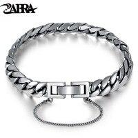 ZABRA Genuine 925 Sterling Silver Bracelet Horse Link Chain Bracelets Man Women Korea Girls Charms Snake Silver Female Jewelry