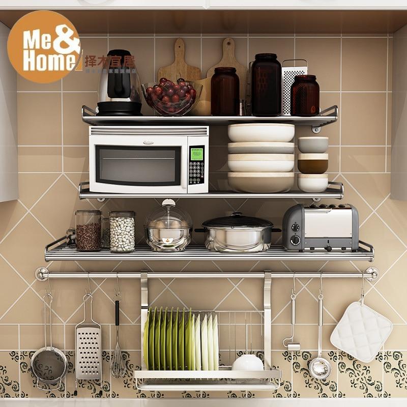 tienda online ms verde acero inoxidable habitable cocina estante horno de microondas tabique armario estantera de estante para platos
