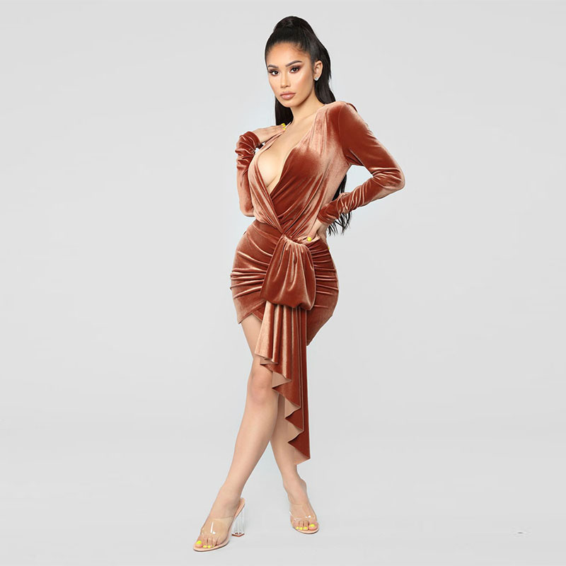 Bandeau Wrap Bandage V Neck Mini Dress