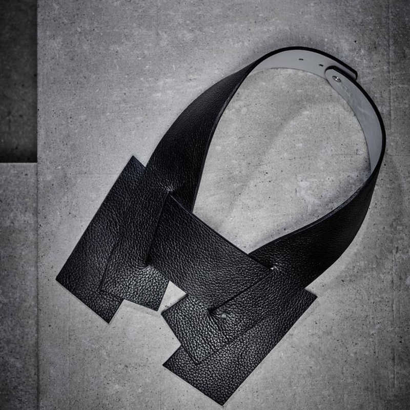 YD & YDBZ nouveau Designer colliers faits à la main femmes couples collier noir en cuir colliers Harajuku gothique bijoux choses étranges