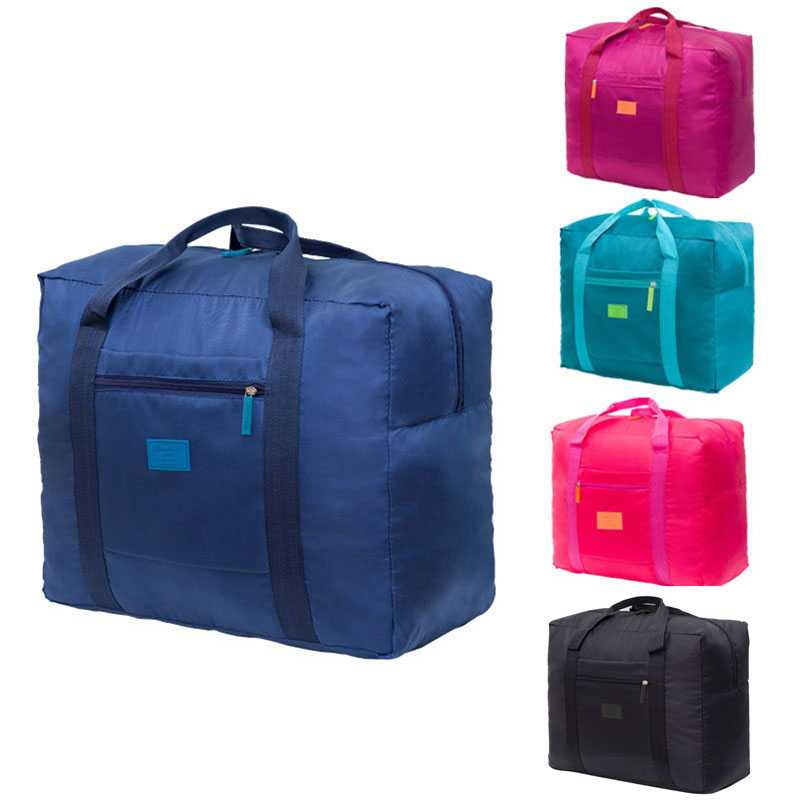 Convenient Fashion Folding Portable Travel Bag Nylon Waterproof Traveler Love Bag Large Capacity Hand Baggage Bag SNB003