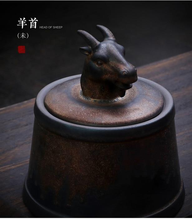 Прах питомца кремации держатель урны собака в память о кошке шкатулка животное на память о похоронах Hond 500 г большой емкости свинья лошадь OXCaskets - Цвет: Sheep Head