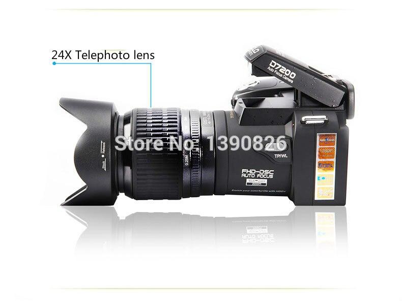 D7200 caméra vidéo numérique 33 millions de pixels caméra numérique professionnelle 24X caméra zoom optique plus lampe frontale à LED gratuit - 3