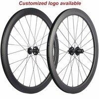 Offres spéciales 50mm profondeur pneu carbone roues frein à disque route vélo carbone roues 25mm largeur Cyclocross roues