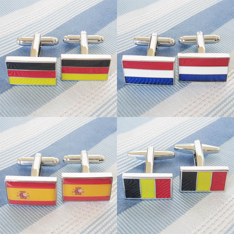 Cufflinks Shirt Cuff Button Gifts for Men National Flag Jack Cuff links Cufflinks Italy American England Spain Germany Japan