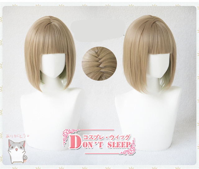 Tokyo Game SINoALICE Hansel Gretel cosplay wig women short straight flaxen Lolita hair wig costumes