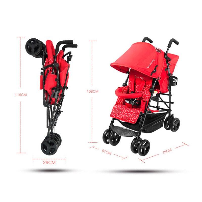 0-36 maanden pasgeboren opvouwbare kinderwagen Tweeling kind kinderwagen lichtgewicht opvouwbare kan sit lie draagbare VS baby wandelwagen 2