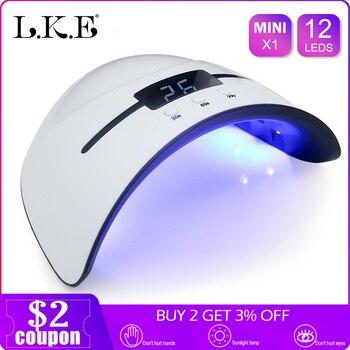 Lke 36 W Uv Lampu Kuku Pengering untuk Semua Jenis GEL 12 LED Lampu UV untuk Kuku Mesin Menyembuhkan 30 S 80 S 90 S Timer Usb Portable Lampu UV