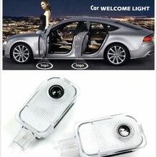JURUS 2Pcs Led Car Logo Door Light Welcome Lamp Wireless Projector Laser For SUBARU Forester Impreza Outback Legacy XV