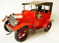 Hot koop Antieke Kamer/woondecoratie Ijzer Auto model auto jongens gift Vintage rode klassieke auto model relatiegeschenk