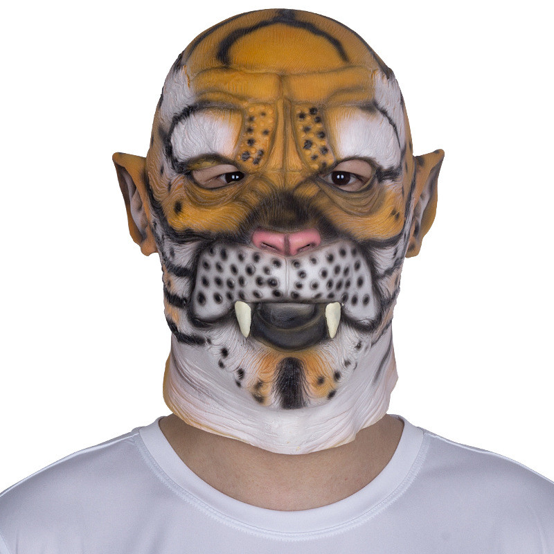 917b24fb6060 2018 Tiger Head Mask Party Essential Halloween Costume Theater Novelty  Latex Leopard Mask Animal Costume Party Tool Masks