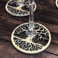 Дерево Coaster, цветок жизни деревянная подставка, держатель для напитков деревянный подарок, водный гармоник духовная деревянная подставка д...