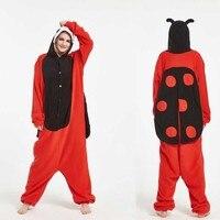 2018 warme dame bug kostüme Halloween Tier Erwachsene Disfraz Marienkäfer Onesie Unisex Insekt Pyjamas Strampler Weihnachtsfeier Nachtwäsche