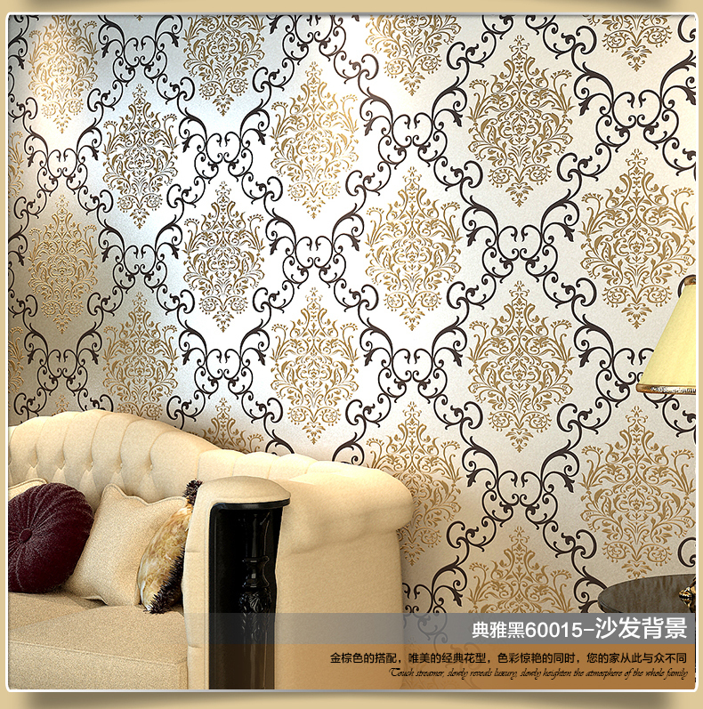 Aliexpress Com Buy Luxury Gold 3d Wallpaper For Walls 3 D Floral Of Wall Paper For