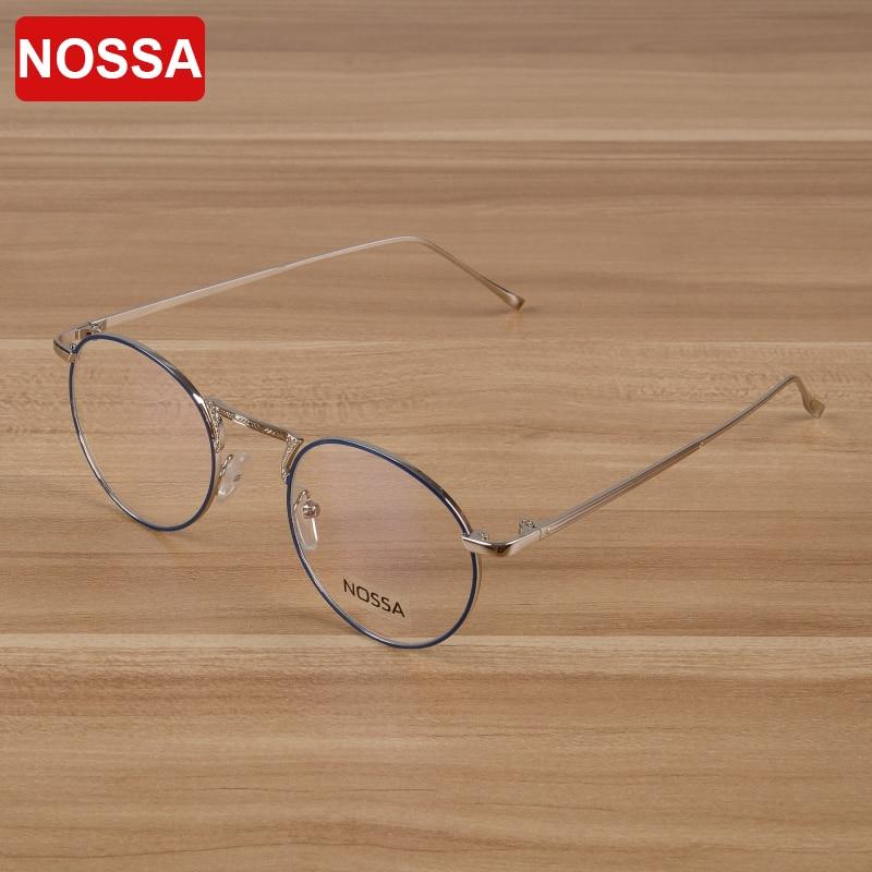 نوسا ماركة النساء والرجال المعادن النظارات البصرية إطار نظارات أنيقة النظارات الطبية الإطار الطلاب مشهد الساخن بيع