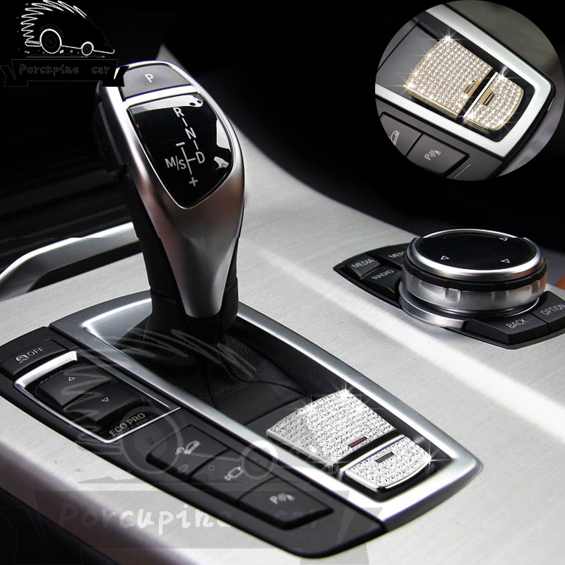 Cubierta de botones multimedia Consola central interior del autom/óvil Botones multimedia Cubierta decorativa Marco para X1 X3 X5 X6 F30 E90 F10 F18 F25 E60 E61 7 Button Style3