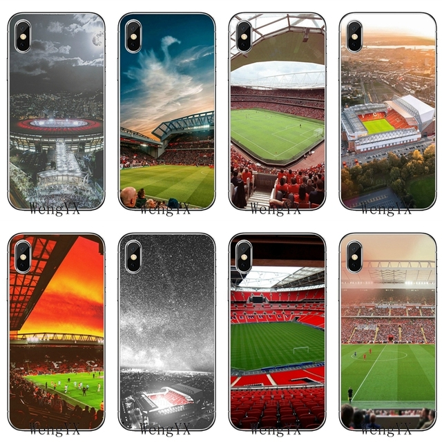 c22fe74407b for Liverpool Anfield stadium slim silicone TPU Soft phone cover case For Apple  iPhone 4 4s 5 5s 5c SE 6 6s 7 8 plus X XR XS Max