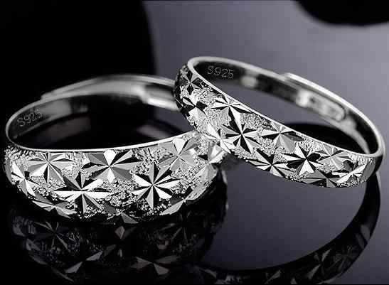 Factory Price Wholesale 925 Sterling Silver Rings Couples Ring Fashion Jewelry Top Quality Free Shipping