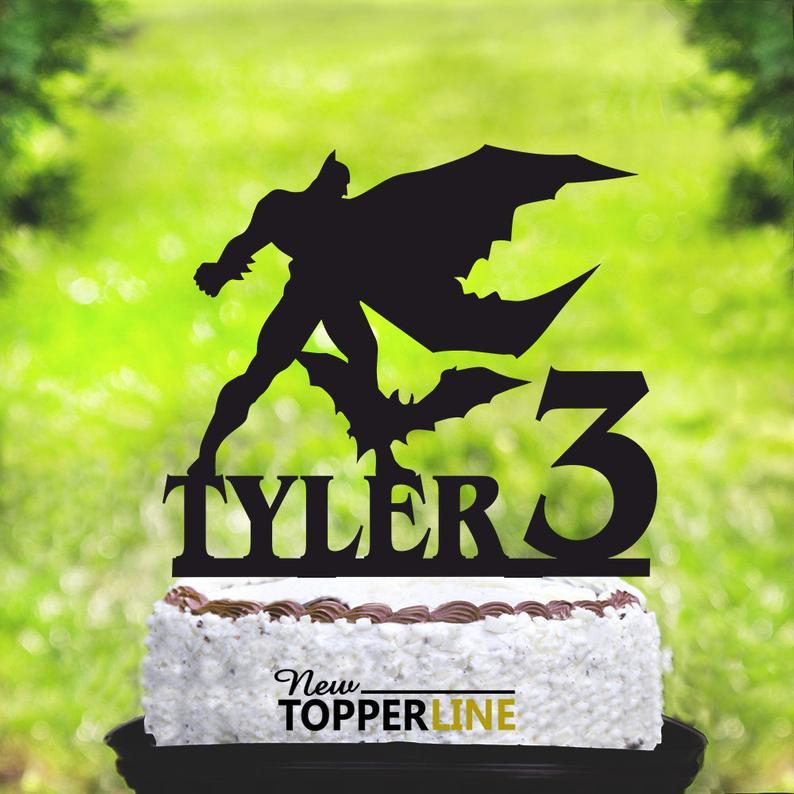 Superhero Cake TopperBatman ThemeBirthday Party Batman Birthday